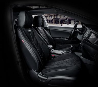 Универсальные 5D авточехлы на передние сиденья Carfashion модель Start Front (21065)