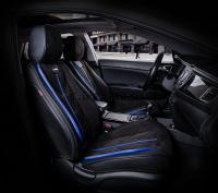 Универсальные 5D авточехлы на передние сиденья Carfashion модель Start Front (21066)