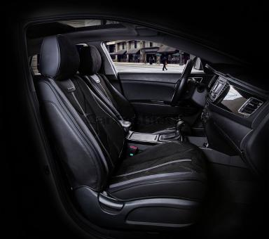Универсальные 5D авточехлы на передние сиденья Carfashion модель Start Front (21067)