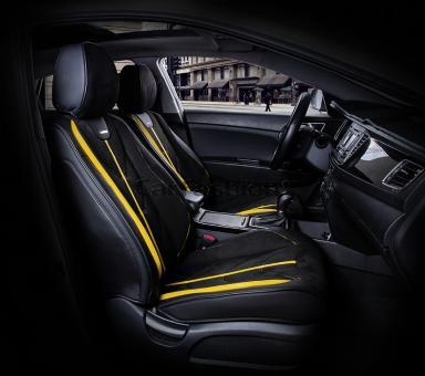 Универсальные 5D авточехлы на передние сиденья Carfashion модель Start Front (21070)