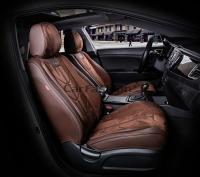 Универсальные 5D авточехлы на передние сиденья Carfashion модель Start Front (21071)