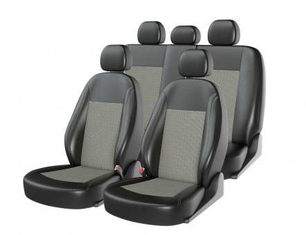 Универсальные авточехлы на передние и задние сиденья Carfashion модель Atom Zamsha (00111)