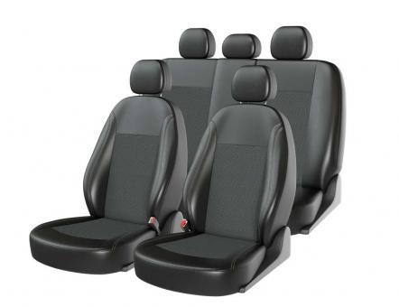 Универсальные авточехлы на передние и задние сиденья Carfashion модель Atom Zamsha (00112)