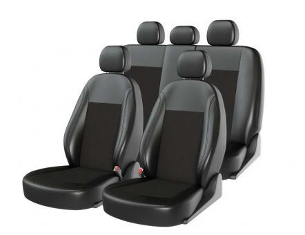 Универсальные авточехлы на передние и задние сиденья Carfashion модель Atom Zamsha (00113)