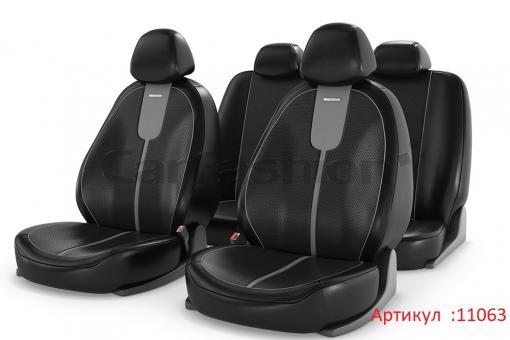 Универсальные авточехлы на передние и задние сиденья Carfashion модель Gals Plus (11063)