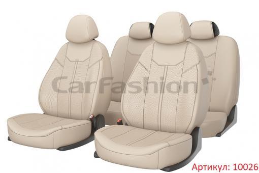 Универсальные авточехлы на передние и задние сиденья Carfashion модель Mustang Plus (10026)