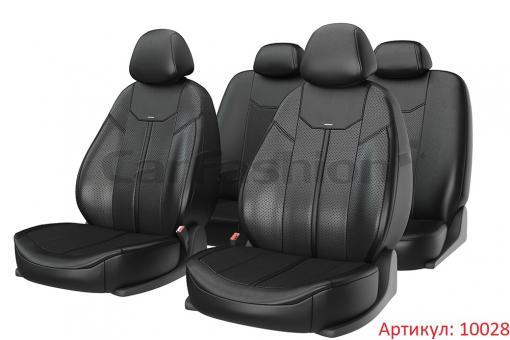 Универсальные авточехлы на передние и задние сиденья Carfashion модель Mustang Plus (10028)