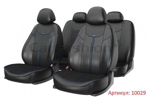 Универсальные авточехлы на передние и задние сиденья Carfashion модель Mustang Plus (10029)
