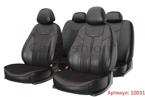 Универсальные авточехлы на передние и задние сиденья Carfashion модель Mustang Plus (10031)