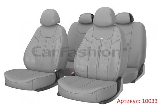 Универсальные авточехлы на передние и задние сиденья Carfashion модель Mustang Plus (10033)