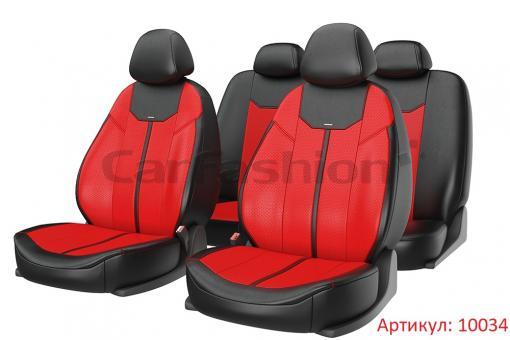 Универсальные авточехлы на передние и задние сиденья Carfashion модель Mustang Plus (10034)