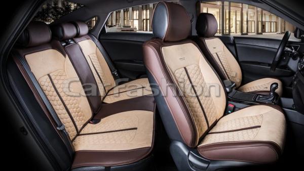 Универсальные авточехлы на передние и задние сиденья Carfashion модель Stalker Plus (22422)