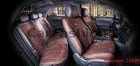 Универсальные авточехлы на передние и задние сиденья Carfashion модель Stalker Plus (22426)