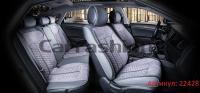 Универсальные авточехлы на передние и задние сиденья Carfashion модель Stalker Plus (22428)