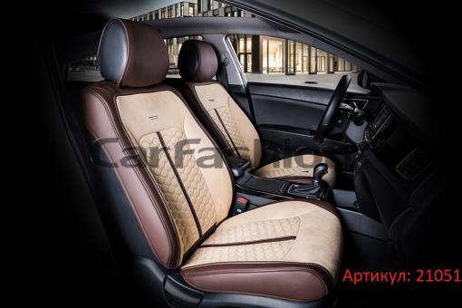 Универсальные авточехлы на передние сиденья Carfashion модель Stalker Front (21051)