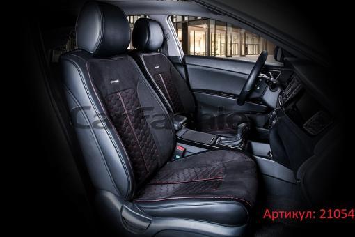 Универсальные авточехлы на передние сиденья Carfashion модель Stalker Front (21054)